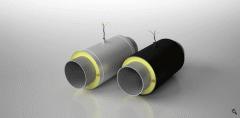Элемент трубопровода с кабелем вывода в ППУ