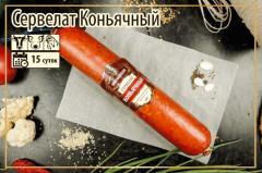 Полукопченая колбаса Сервелат Коньячный