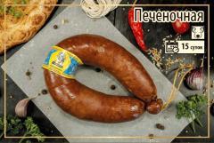 Полукопченая колбаса Печеночная