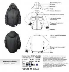 Куртка утепленная модель К3054