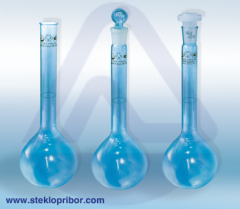 Laboratory glassware from glass in assortment,