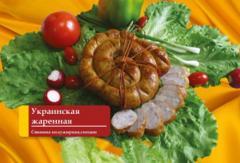 Колбаса полукопченая Украинская жаренная