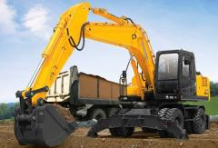 Services of the excavator wheel in Almaty