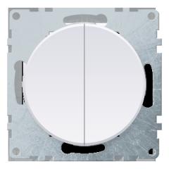 Выключатель двойной, цвет белый (серия Florence)
