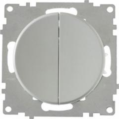 Выключатель двойной, цвет серый (серия Florence)