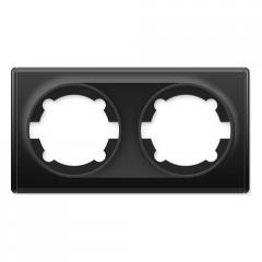 Рамка двойная, цвет чёрный (серия Florence)