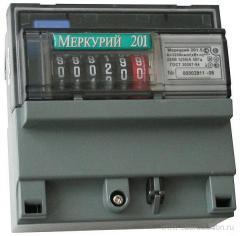 Счетчик электроэнергии однофазный однотарифный Меркурий 201.8