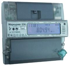 Счетчик электроэнергии трехфазный, активно/реактивный Меркурий 236 ART-03 PQRS
