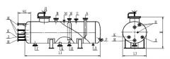 Аппарат емкостной цилиндрический для жидких углеводородных сред на опорах по ТУ 26-18-35-89 ТИП I