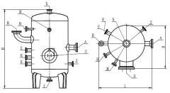 Аппарат емкостной вертикальный для газовых углеводородных сред по ТУ 26-18-35-89 типа 3