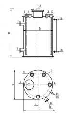 Аппарат вертикальный цельносварной с плоскими днищами типа ВПП