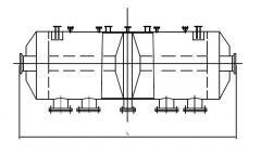 Реверсивный каталитический реактор РКР 12,5-3У-01 3000 мм.