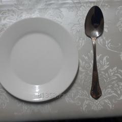 Тарелка белый фарфор