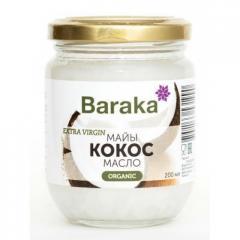 Кокосовое масло Baraka первого холодного...