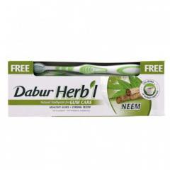 Зубная паста Dabur Herbal Neem (ним) + щетка...
