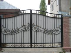 Gate are steel openwork, openwork steel gate,