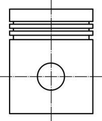 Поршнекомплект MB Compressor OM401-404 d90.0+0.5