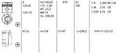 Поршневая в сборе Volvo THD100E THD101G-K d120.64 STD 83- (гладкая гильза) KS 93660961