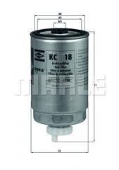 Фильтр топливный MAN D2066 Euro3/Euro4 Knecht KX191/1D 51125030061 322009 51125030061