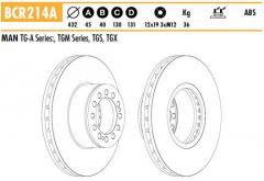 """Диск тормозной передний 22.5""""/432мм MAN TGM/TGA/TGS/TGX SL/SU/SD/UL/RH Lion's Neoplan 81508030046 81508030040"""