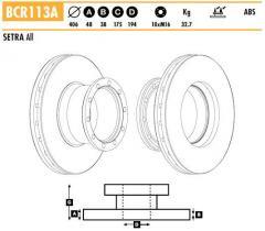 Диск тормозной Beral 8-колодок Setra 2-Series 1792411111310