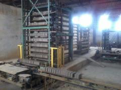 Construction of brick-works, installation of the
