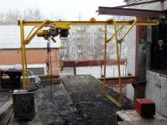 The crane in window, Kazakhstan, production