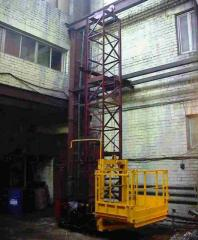 Cargo mast lift construction, Kazakhstan,