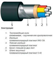 Cable aluminum armor AVBBSHV 3х4+1х2,5