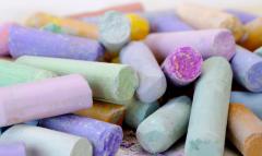 Chalk school multi-colored