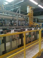 Автоматическая однорядная линия рассивации деталей из нержавеющей стали