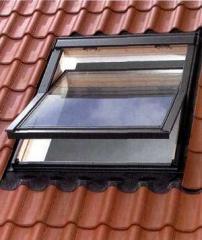 Мансардное окно 78х118 с окладом для