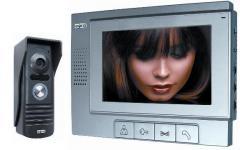 Комплект видеодомофон с памятью + кнопка вызова