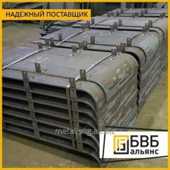 Armor sheet h2080h 1220 2.2 mm steel 96 (45 H2NMFBA), pulezashhity class 2