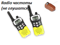 The microearphone the Handheld transceiver of