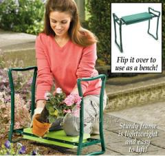 Bench-support under the knees for the garden