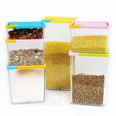Набор емкостей для сыпучих продуктов 6 шт