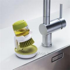 Dishwashing brush with dispenser