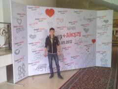 Press ox and designs for banners in Almaty