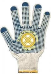 Gloves working 100% x/, 3 threads, density 117