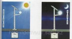 Autonomous lighting of streets, parks, squares on