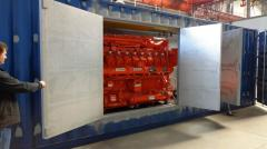 Gas-piston station