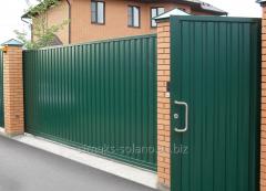 Ворота металлические из профнастила