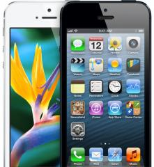 Apple Iphone 5 black white 64GB