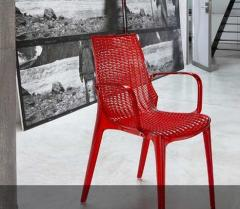 Chairs SCAB Italy, Transparent easy chairs from