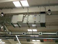 Installation of systems of ventilation,