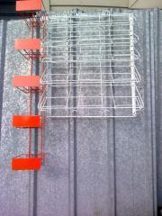 Hung up racks, POSM metal, a tsennikoderzhatel,