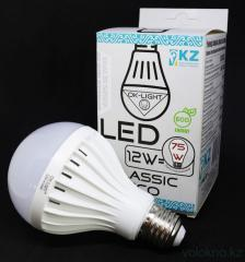 Лампа светодиодная серии CLASSIC 12W цоколь Е27