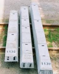 Железобетонные брусья стрелочных переводов, марки