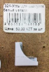 324-Углы для шкатулок белый металл